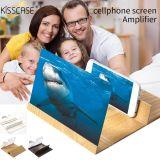 12 inch Mobile Phone Screen Magnifier Wood 3D Enlarged Screen Mobile Phone Amplifier HD Video Projector Holder Stand Desktop