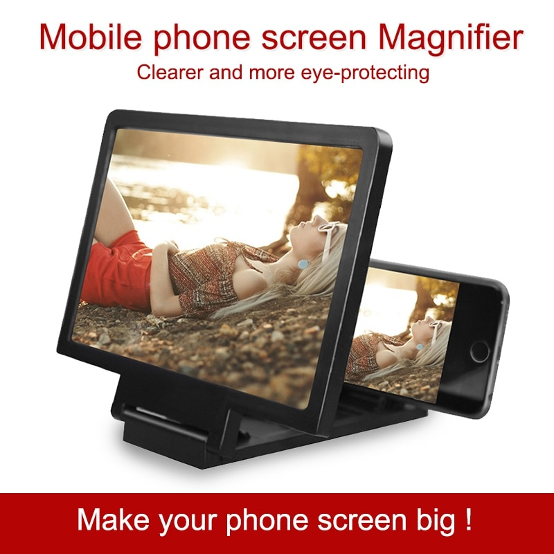 screen Amplifier Mobile Phone 3D Screen Video Magnifier For Cell Phone Smartphone Enlarged Screen Phone Holder Stand