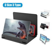 12 inch Mobile Phone 3D Screen Video Magnifier 8/9 Folding Curved Enlarged Smartphone Movie Amplifying Projector Stand Bracket