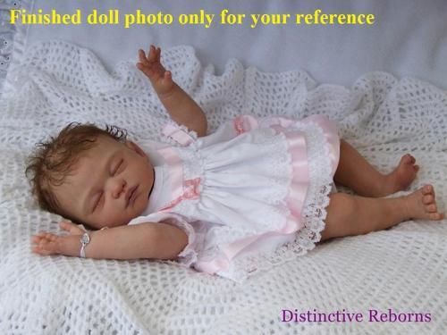 DIY unpainted blank reborn doll kit full body soft vinyl doll kit anatomically correct Carina by Shiela Michael
