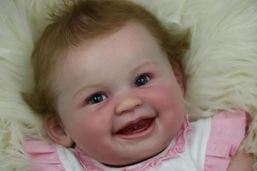 Popular smiling face reborn doll kit Juliana by Ping Luo  very soft real touch fresh color unpainted unfinished