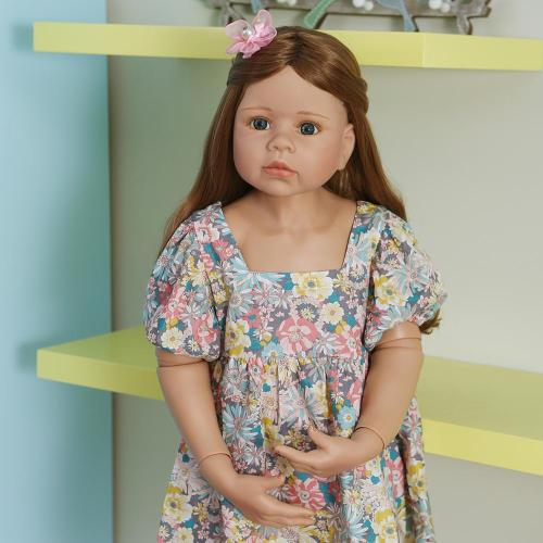 98CM Original Masterpiece Doll toddler princess baby girl 3-4years old real baby dress model ball jointed full body