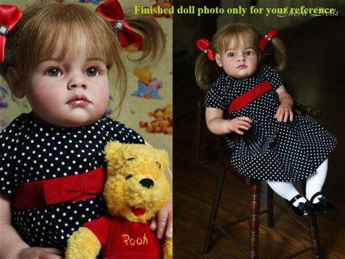 28inches Tatiana reborn toddler doll kit  DIY unpainted blank doll kit soft silicone vinyl