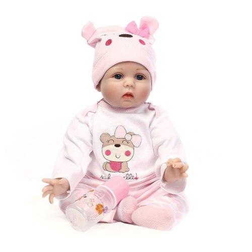 40CM Silicone Reborn Boneca Realista Fashion Baby Dolls Kids Birthday Gift Bebes Reborn Dolls For Girls Toys