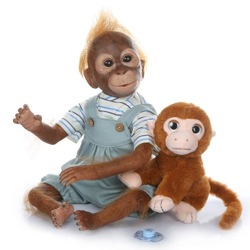 New 21inch 52CM 100% handmade reborn Monkey  very soft silicone vinyl flexible Collectible art doll
