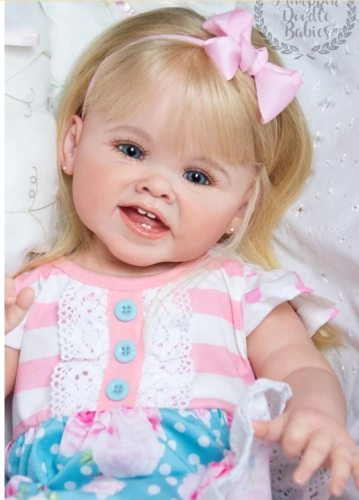28inches Reborn supply reborn doll kit toddler girl DIY Toy soft real gentle touch vinyl kit doll parts