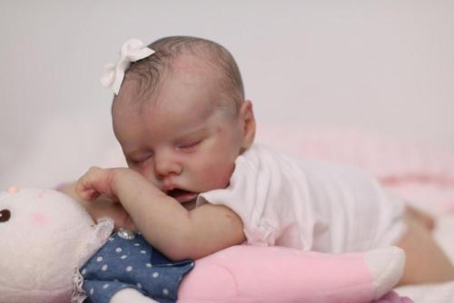 18inch reborn doll kit TWIN A very soft lifelike real touch fresh color unpainted unfinished doll parts DIY
