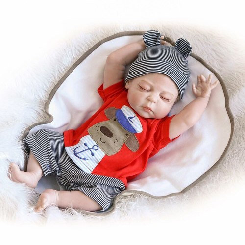 Silicone Reborn Baby Lifelike Toddler Baby Bonecas Kid Doll 45cm Bebes Reborn Brinquedos Reborn Toys For Kids Gift