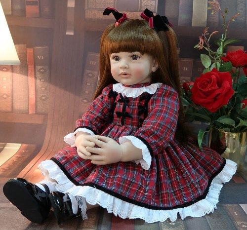 60CM high quality big size reborn toddler princess Silicone vinyl Lifelike Baby Bonecas girl bebe doll reborn menina