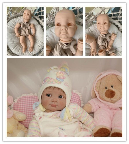 22inch BIBY by Elly Knoops soft touch fresh color reborn doll kit full set with body and eyes