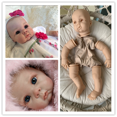 22inch reborn doll kit DIY TOY full set with body and eyes Chrissy by Elly Knoops soft touch fresh color vinyl