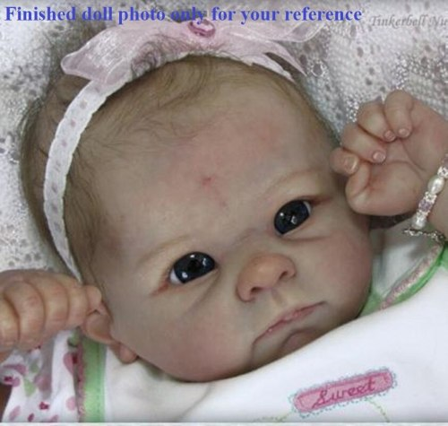 Hot selling 22inches DIY unpainted blank doll kit soft vinyl real touch reborn doll parts