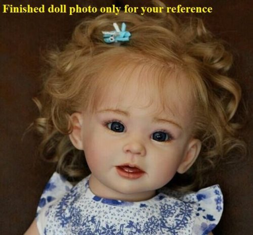 28inches hot selling doll kit  DIY unpainted blank doll kit soft silicone vinyl doll kit