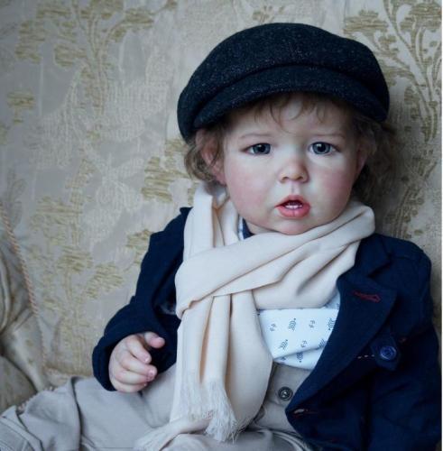 22inch lifelike fresh color reborn supply doll kit popular Liam  baby size DIY reborn artists