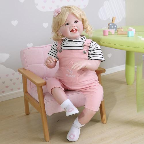 70CM Pink breeches Original soft body bebe doll reborn todder girl huge baby lifelike desgin  christmas decoration gift