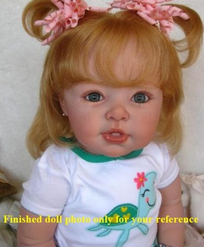 New reborn toddler doll kit DIY blank doll kit soft silicone vinyl 29inches popular LDC kit unpainted doll parts