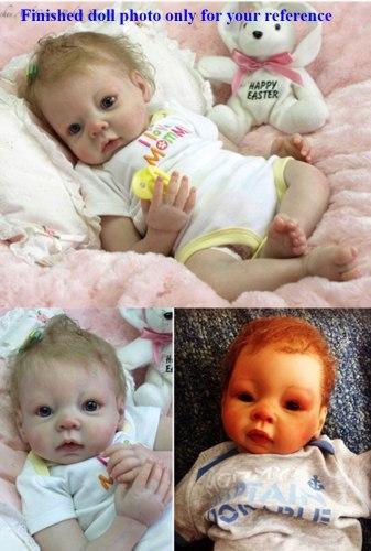 Hot selling DIY doll kit wholesale  an unpainted blank doll kit soft  vinyl reborn doll kit