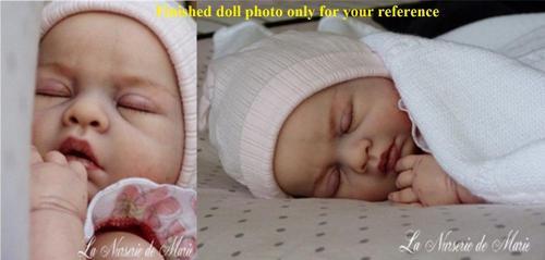 Unpainted reborn doll kit soft silicone  vinyl  full  body  anatomically correct  sleeping Lovelyn  popular kit