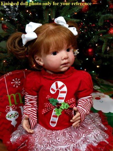 Hot selling 28inches LEONTYNE soft silicone vinyl reborn toddler doll kit DIY unpainted blank kit