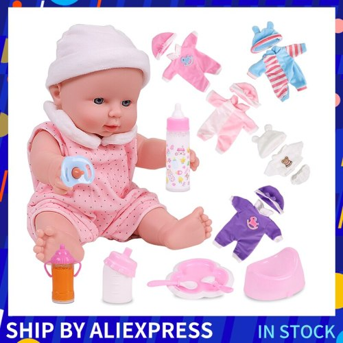 12 inches Bebe Reborn Doll Full Boby Silicone Baby Doll Toys Soft Girl Body Christmas Gift For Kids Children Playmate Role-Play
