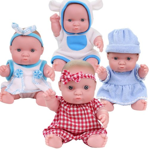 Reborn Baby Doll with Clothes 20CM Baby Reborn dolls Lifelike reborn Toddler Dolls Festival Birthday Gift toys for Girls Kids