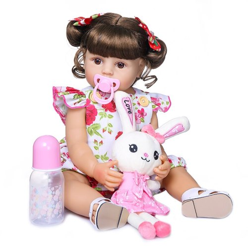 55CM bebe doll reborn toddler girl doll full body silicone soft real touch princess doll