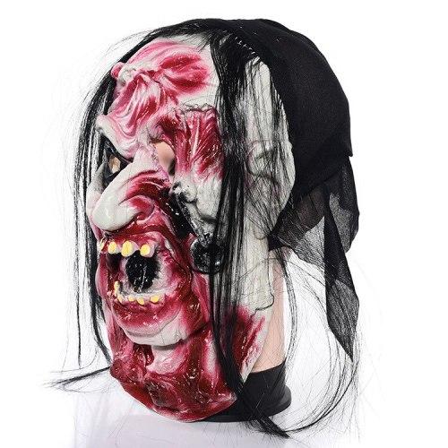 Scary Halloween Zombie Mask Spooky Halloween Props Cosplay Masquerade Halloween Party Props mascara terror Horror mascara latex