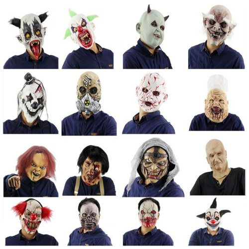 Scary Halloween Mask Latex Horror Mask Adult Full Head Face for Masquerade Party Costume Cosplay Fancy Dress Halloween Gift Prop