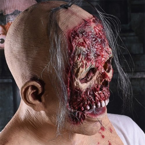 Halloween Demon Mask Disgusting Rot Face Mask Horror Zombie Prank Headgear Cosplay Prank Props Haunted House Costume Party Mask