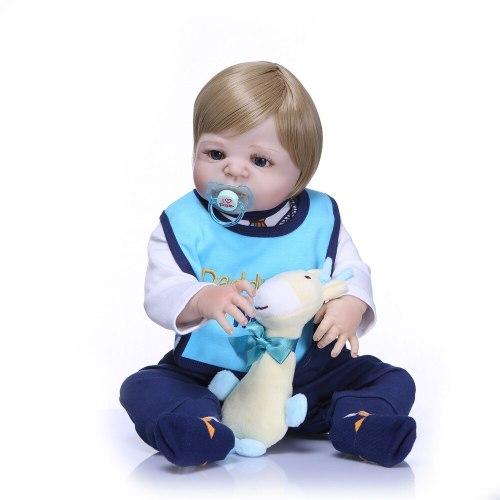 Full Silicone Body Reborn Baby Doll Toy LifeLike Real 57CM Newborn Boy Princess Babies Doll Bathe Toys Kid Gift Birthday