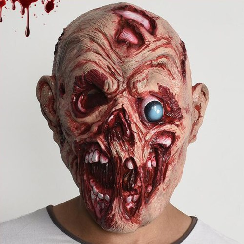 Latex Halloween Corpse Mask Masquerade Halloween Party Prop KTV Bar Club mascaras de terror Old Men zombie mask Horror Prop