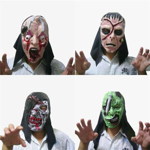 Bloody Halloween zombie mask Frighten Rot Halloween Latex Mask mascara terror Cosplay Mask Halloween Party Supplies Scary Props