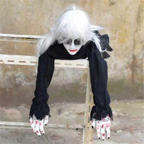 Halloween Decoration Crawling Ghost Electronic Toy Horror Props Scare Woman Devil Home Club Bar Haunted House Party Decoration