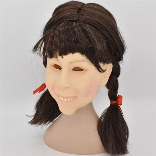 Long Hair Girl Latex Halloween Mask Mascara Terror Horror Halloween Party Props Carnival Zombie Mask For Masquerade Cosplay