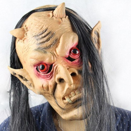 Animated Halloween Zombie Mask Scary Skeleton Halloween Mascara Terror Headgear Haunted House Cosplay Halloween Party Decoration