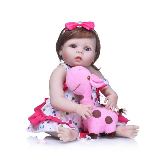 23 full body Silicone reborn baby girl bebe dolls  reborn babies dolls for children gift toys real alive boneca bath toy