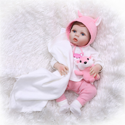 56cm Full body Silicone bebe doll Reborn Baby Toys Lifelike Soft Touch Newborn babies Doll Reborn Birthday Gift Girls Brinquedos