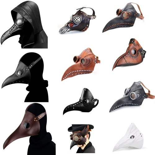 Steampunk Plague Doctor Bird Mask Medieval Doctor Mask Long Nose Beak Cosplay Mascarillas Gothic Punk Halloween Costume Props