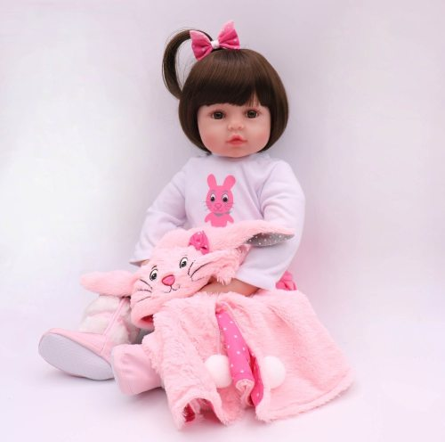 47CM Silicone Reborn Super Baby Lifelike Toddler Baby Bonecas Kid Doll Bebes Reborn Brinquedos Reborn Toys For Kids Gifts