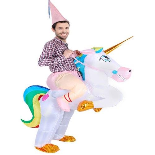 Adult Inflatable Unicorn Costume Halloween Costume For Women Men Party Fantasia Fancy Dress Inflatable Suit Jumpsuit