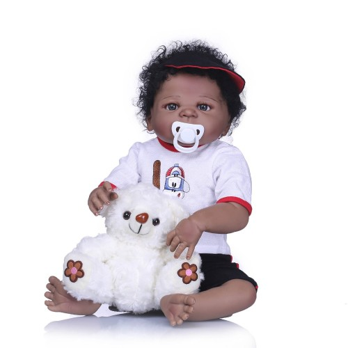 Bebes Reborn Dolls Realistic Full Silicone Baby Boy Doll In Cute Hair Style Reborn Alive Baby Dolls Girls Playmate Toys