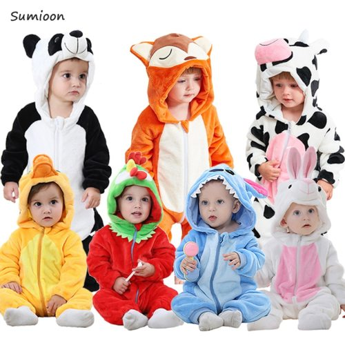 2020 Autumn Winter New Born Baby Clothes Unisex Halloween Clothes Boy Rompers Kids Panda Costume For Girl Infant Jumpsuit 3-24M