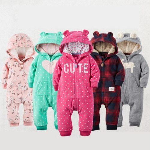 2020 Fall Warm Infant Baby Rompers Coral Fleece Animal Overall Baby Boy Gril Halloween Xmas Costume Clothes Baby jumpsuit