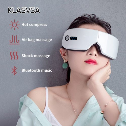 Rechargeable Smart Eye Massager Facial Massager Bluetooth Music Foldable Air Pressure Heating Massage Relaxation