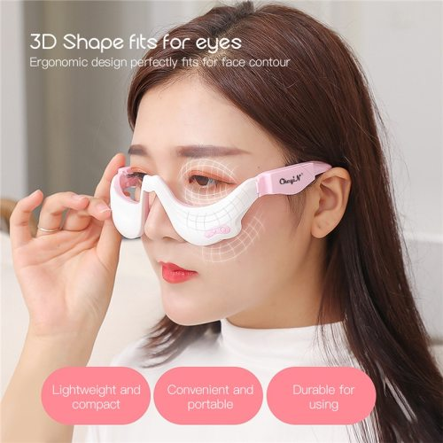 3D EMS Micro-Current Pulse Eye Relax Massager Heating Therapy Acupressure Fatigue Relief Wrinkle Reduction Blood Circulation