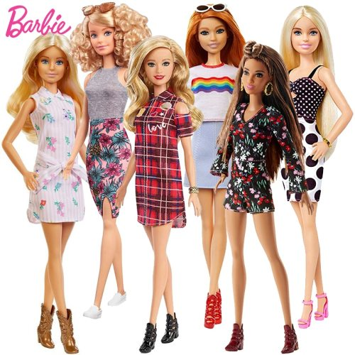 Original Barbie Dolls Fashionistas Blonde Hair Bjd Doll for Girls Accessories Baby Dolls Toys for Girls Barbie Clothes Juguetes