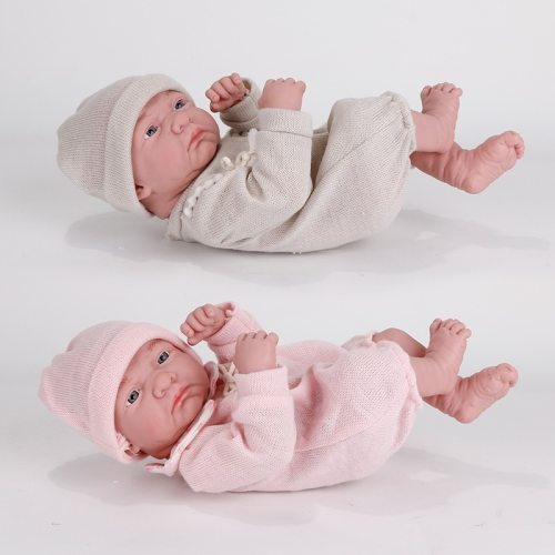 35CM New Baby Dolls Reborn Bebe Toys Lying Down Shape Silicone Full Body Toddler Newborn Reborn Doll Kids Cute Toy For Girl Gift