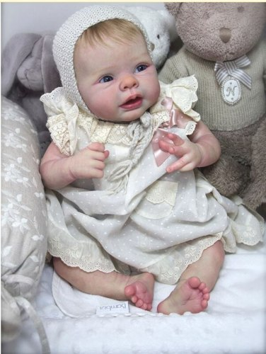 Reborn kits Popular face Saskia doll kit very soft real touch fresh color unpainted rebirth infant doll mould