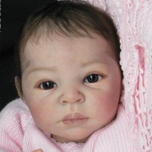 Reborn Doll Kits DIY 22inch Unpainted bebe reborn doll Model Rebirth Infant doll Mould Saskia doll kit