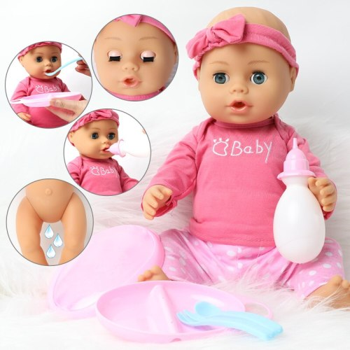 46cm Bebe reborn doll long hair DIY kids toys 18 inch Fashion Realistic Soft silicone Baby doll Clothes comb set Boneca gifts